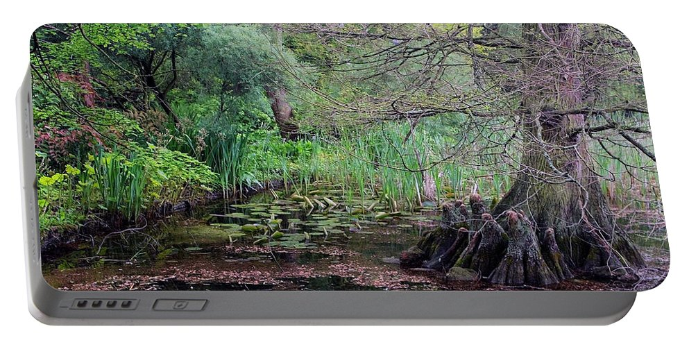 Swamp Portable Battery Charger featuring the photograph Swamp Garden by Andy Readman