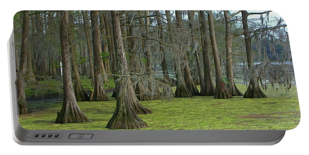 Wilmington Portable Battery Charger featuring the photograph Swamp Music 0830 by Guy Whiteley