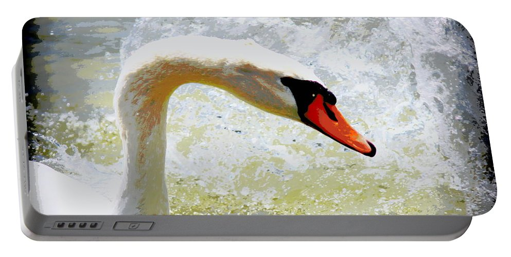 Swan Portable Battery Charger featuring the photograph Swan - Beautiful - Elegant by Travis Truelove