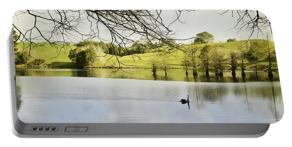 Swan Portable Battery Charger featuring the photograph Swan by Les Cunliffe