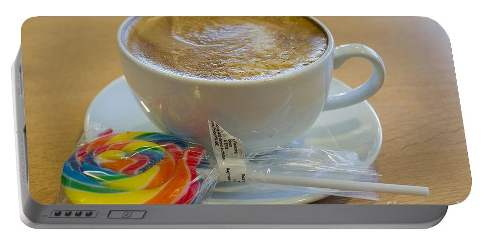 Coffee Portable Battery Charger featuring the photograph Sweet Break by Mair Hunt