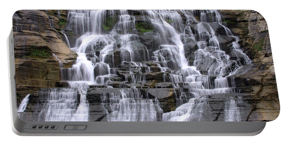 \ithaca Falls\ Portable Battery Charger featuring the photograph Emotion by Debbie Fieno