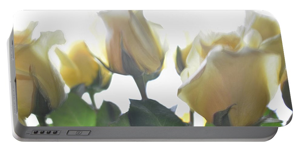 Yellow Roses Portable Battery Charger featuring the photograph Sweet Memories by Tikvah's Hope