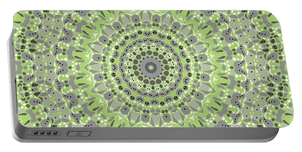 Mandala Portable Battery Charger featuring the digital art Sweet Spring Mandala by Joy McKenzie