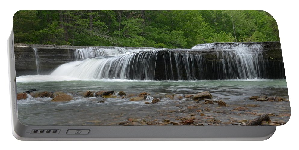 Waterfalls Portable Battery Charger featuring the photograph Swimming Hole by Deanna Cagle