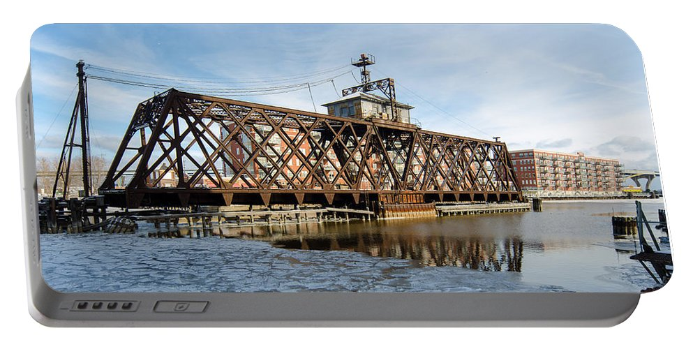 Trestle Portable Battery Charger featuring the photograph Swinging Trestle Milwaukee 3rd Ward by Susan McMenamin