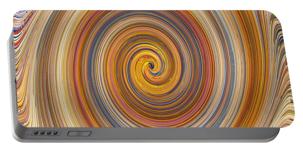Swirl Portable Battery Charger featuring the painting Swirl 91 by Jeelan Clark