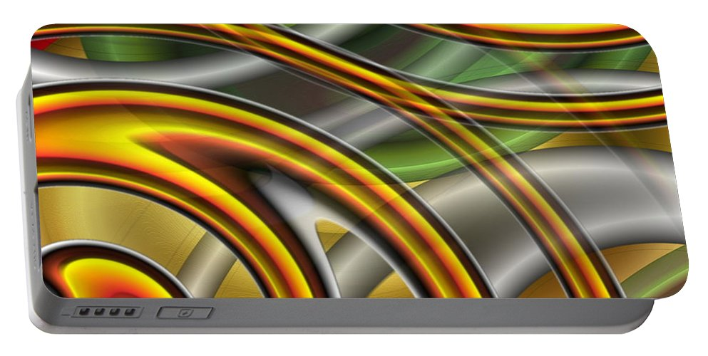 Swirl Portable Battery Charger featuring the digital art Swirl On Swirl On Swirl On Swirl by Ron Hedges
