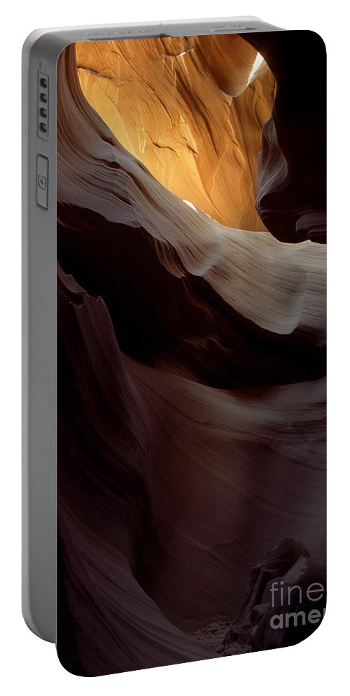 Slot Canyons Portable Battery Charger featuring the photograph Swopes by Kathy McClure