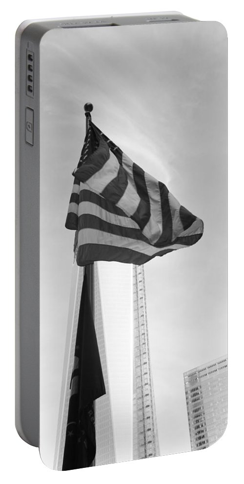 Wtc Portable Battery Charger featuring the photograph Symbols In Black And White by Rob Hans