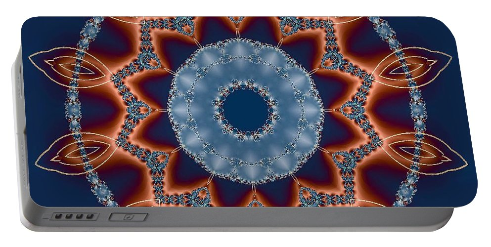 Kaleidoscope Portable Battery Charger featuring the photograph Symmetry by Lena Photo Art