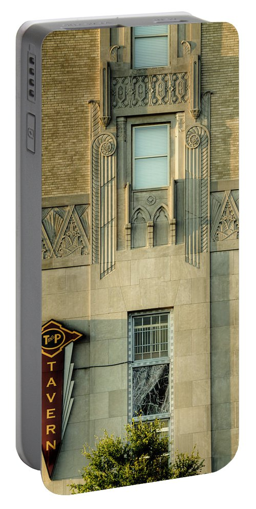 Joan Carroll Portable Battery Charger featuring the photograph T And P Tavern by Joan Carroll