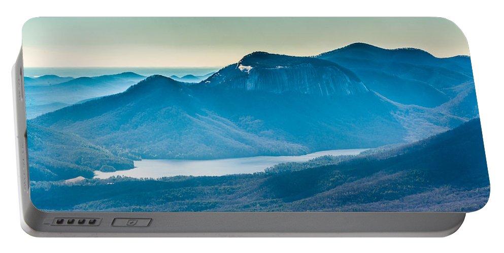 Blue Ridge Escarpment Portable Battery Charger featuring the photograph Table Rock by Randy Scherkenbach