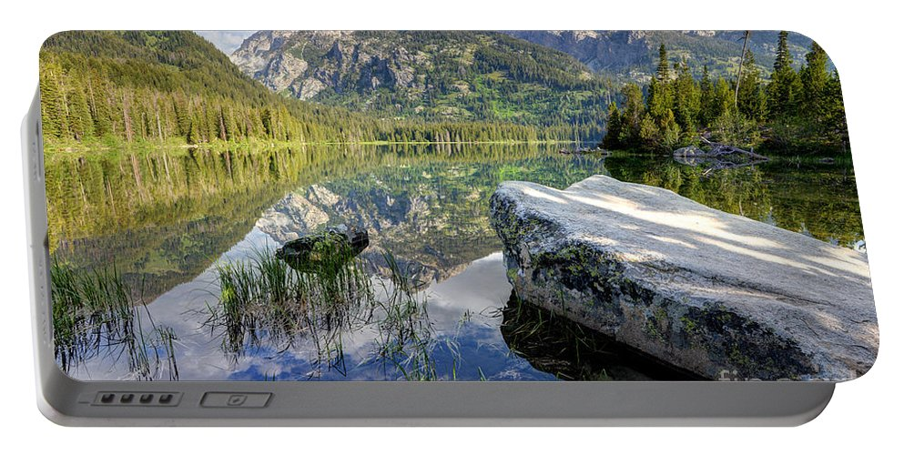 Taggart Portable Battery Charger featuring the photograph Taggart Lake Grand Teton National Park by Gary Whitton