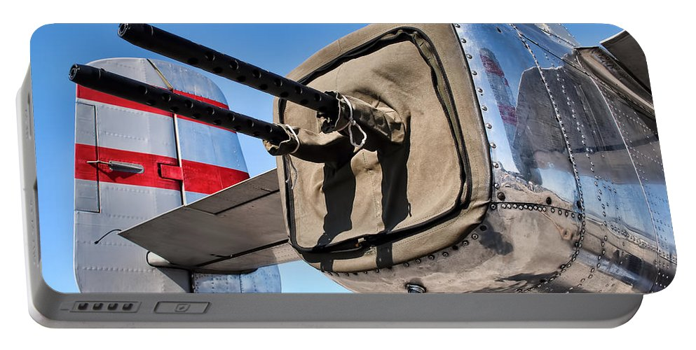 B-25 Portable Battery Charger featuring the photograph Tail Gunner by David Hart