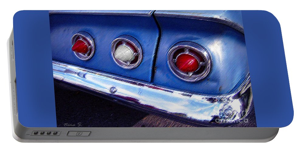 Cars Portable Battery Charger featuring the photograph Tail Lights And Fenders by Nina Silver