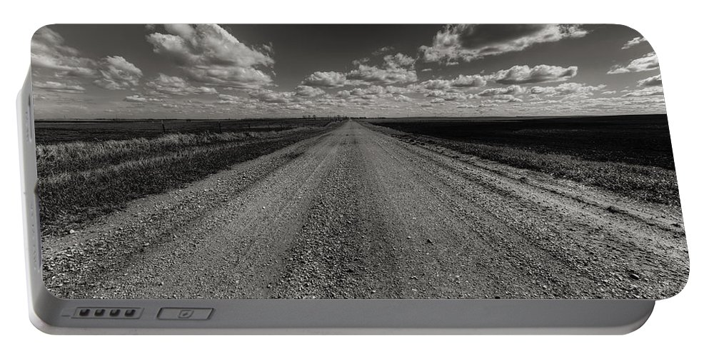 Suth Dakota Portable Battery Charger featuring the photograph Take A Back Road Bnw Version by Aaron J Groen