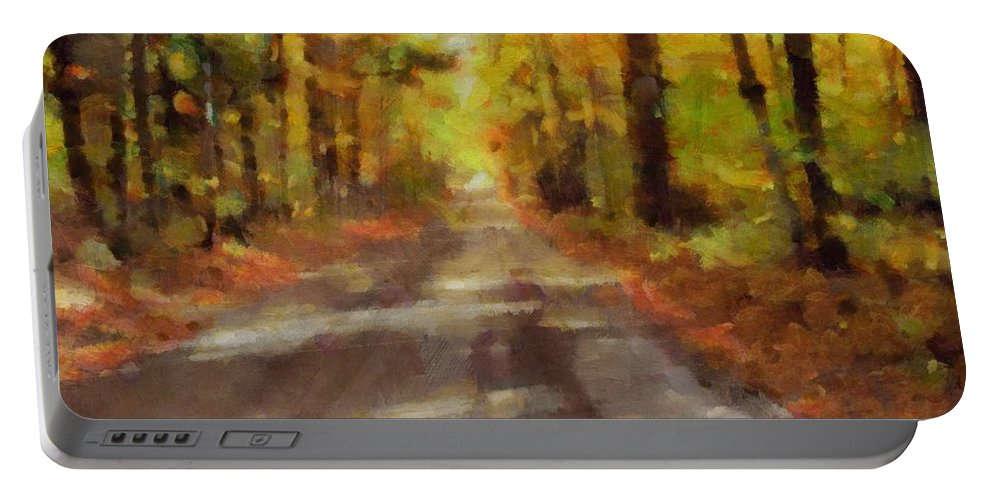 Take Me Home Country Roads Portable Battery Charger featuring the painting Take Me Home Country Roads by Dan Sproul