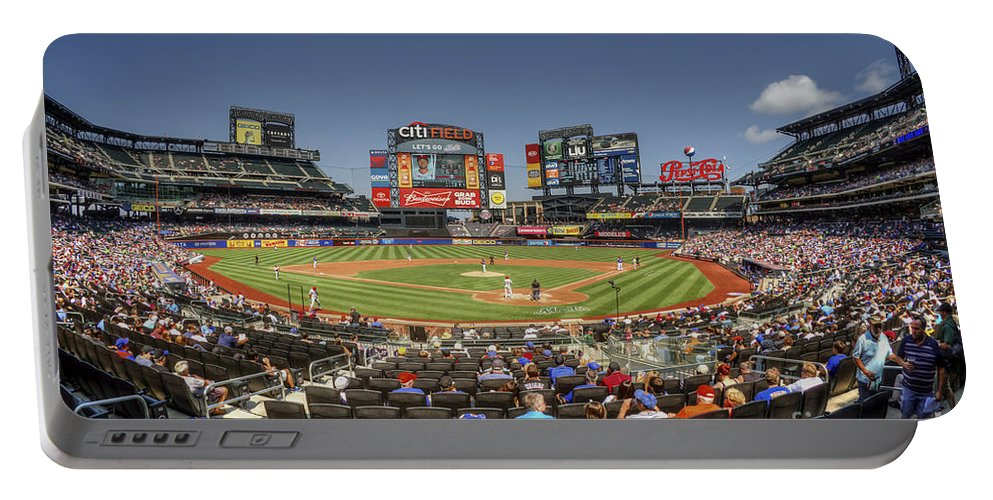 Citi Field Portable Battery Charger featuring the photograph Take Me Out To The Ballgame by Evelina Kremsdorf