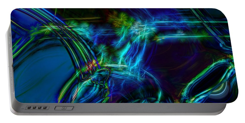Abstract Portable Battery Charger featuring the digital art Take Off by Richard Thomas