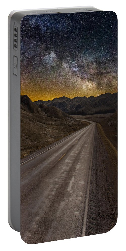 Milkyway Portable Battery Charger featuring the photograph Take The Long Way Home by Aaron J Groen
