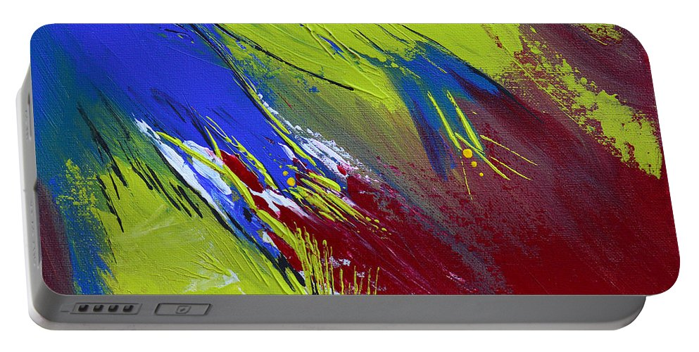 Bold Abstract Art Portable Battery Charger featuring the painting Taking Flight by Donna Blackhall