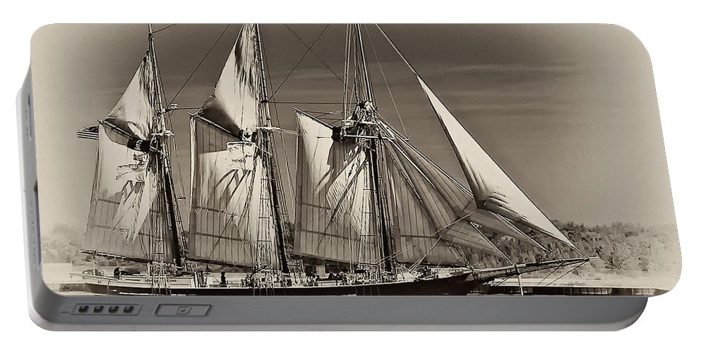 Tall Ship Portable Battery Charger featuring the photograph Tall Ship II by Steve Harrington
