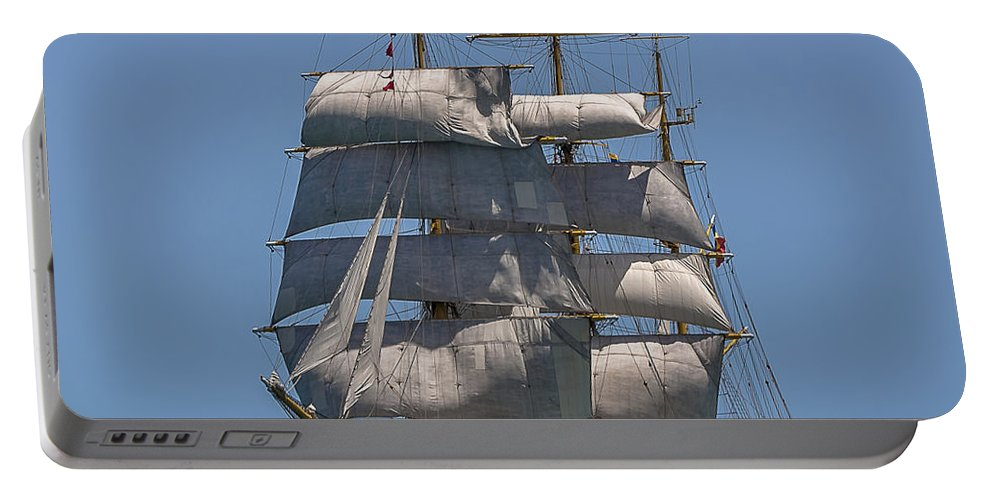 Tall Ships Portable Battery Charger featuring the photograph Tall Ship Mircea by Pablo Avanzini