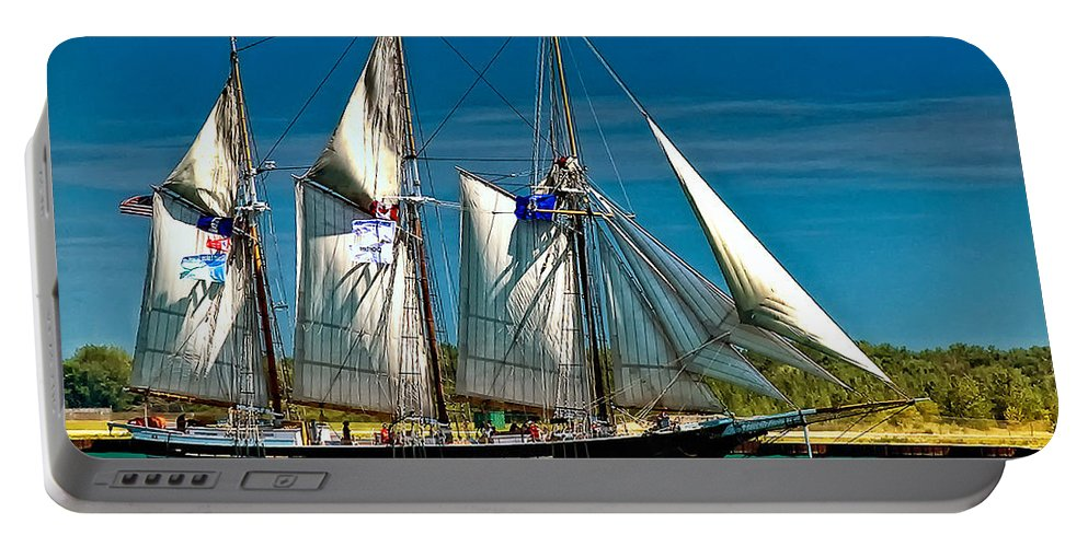 Tall Ship Portable Battery Charger featuring the photograph Tall Ship by Steve Harrington