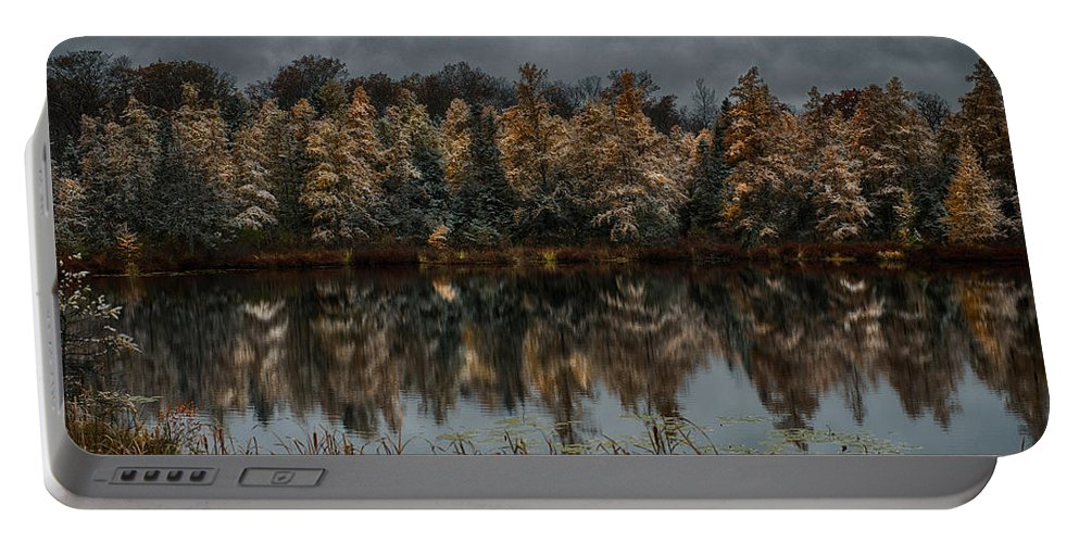 Tamarack Portable Battery Charger featuring the photograph Tamarack Reflections by Paul Freidlund