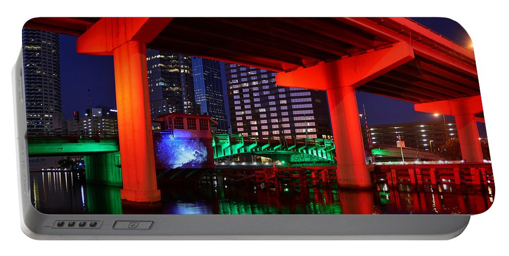 Fine Art Photography Portable Battery Charger featuring the photograph Colorful Tampa Bay Florida by David Lee Thompson