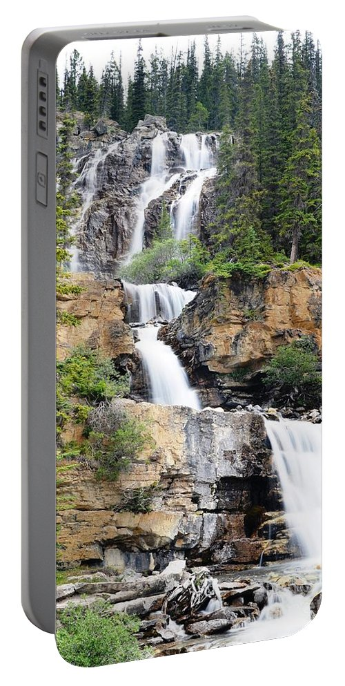 Waterfall Portable Battery Charger featuring the photograph Tangle Falls Tumble by Deanna Cagle