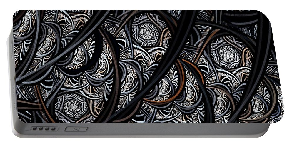 Digital Art Portable Battery Charger featuring the digital art Tangled by Amanda Moore