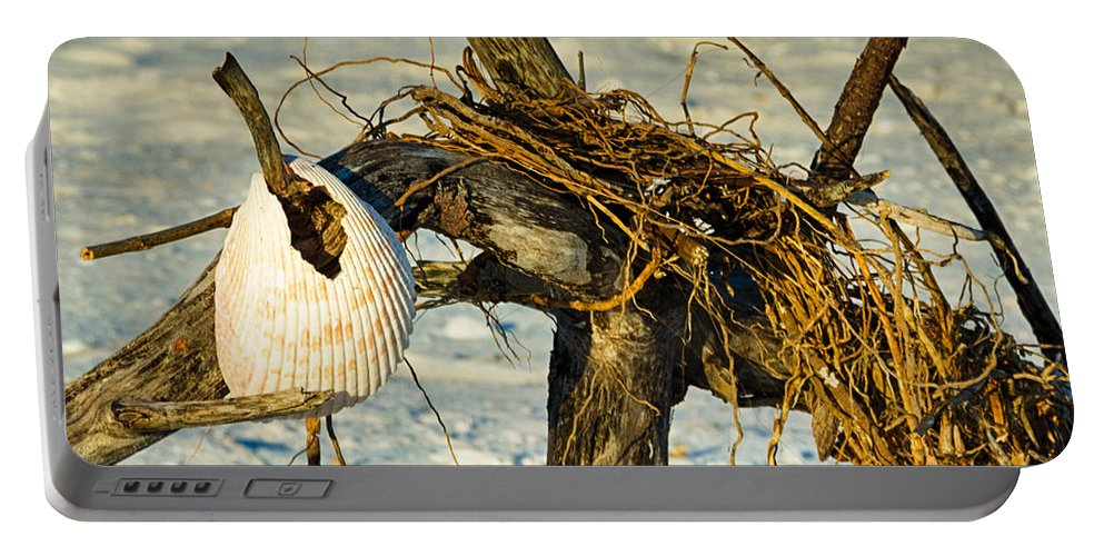Driftwood Portable Battery Charger featuring the photograph Tangled Driftwood by Georgette Grossman
