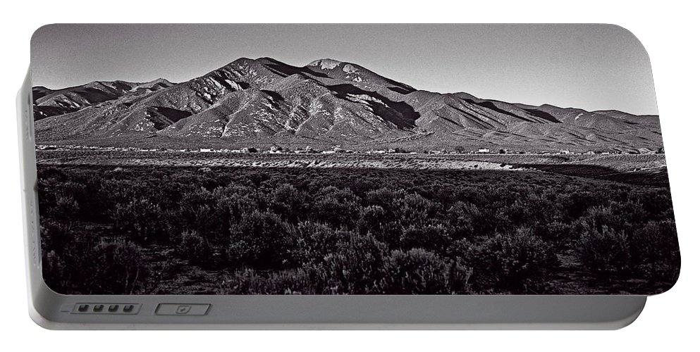 Taos Portable Battery Charger featuring the photograph Taos In The Zone by Charles Muhle