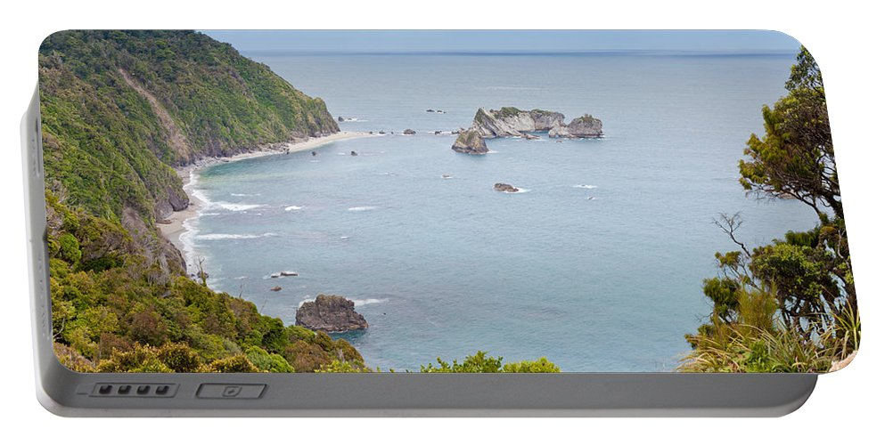 South Island Portable Battery Charger featuring the photograph Tasman Sea At West Coast Of South Island Of New Zealand by Stephan Pietzko