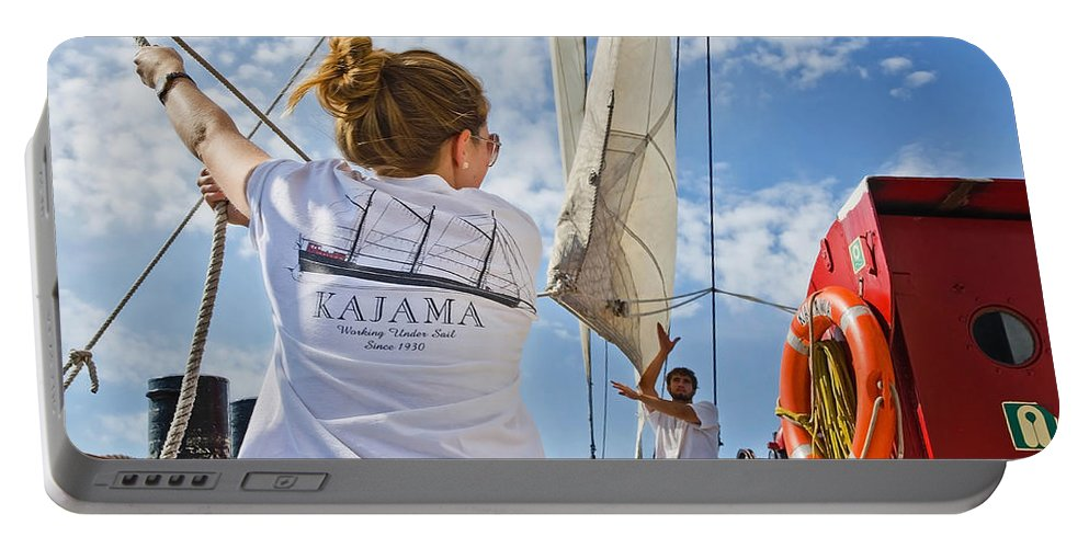 Ship Portable Battery Charger featuring the photograph Teamwork by Keith Armstrong