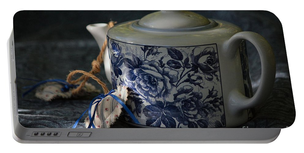 Teapot Portable Battery Charger featuring the photograph Teapot by Luv Photography