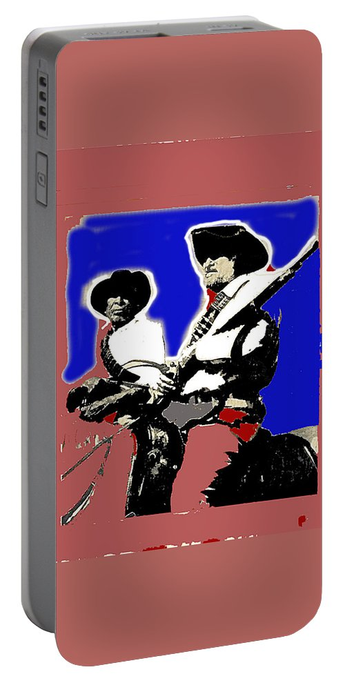 Ted Degrazia On Quest For The Lost Dutchman's Mine Superstition Mountains 1962-2013 Portable Battery Charger featuring the photograph Ted Degrazia On Quest For The Lost Dutchman's Mine Superstition Mountains 1962-2013 by David Lee Guss