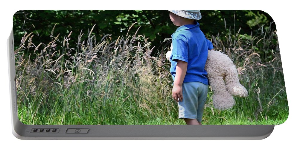 Nature Walk Portable Battery Charger featuring the photograph Teddy Bear Walk by Keith Armstrong