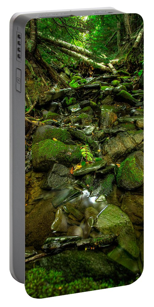 Canada Portable Battery Charger featuring the photograph Tee Harbour Creek by Jakub Sisak