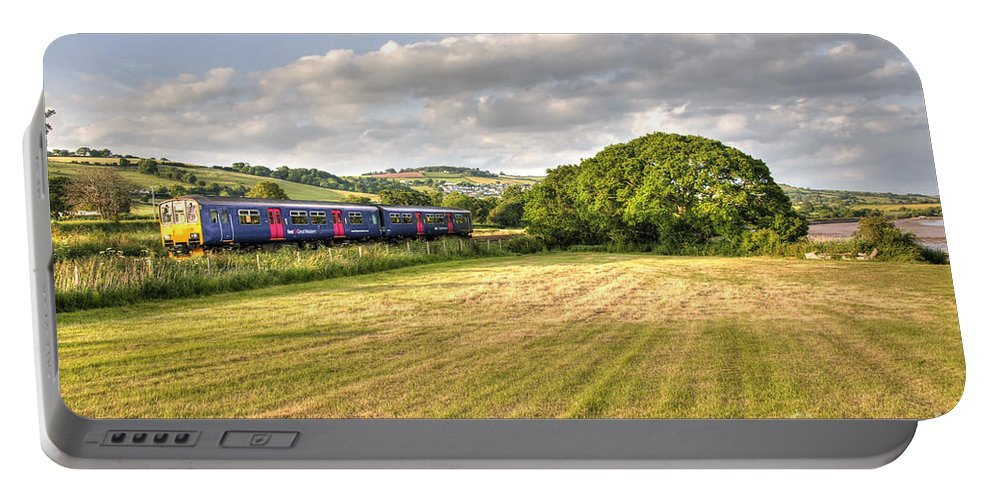 Teign Portable Battery Charger featuring the photograph Teign Valley Sprinter by Rob Hawkins