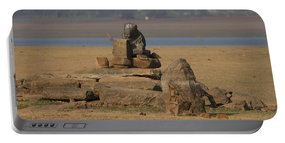 Temple Ruins Portable Battery Charger featuring the photograph Temple Ruins by Ramabhadran Thirupattur