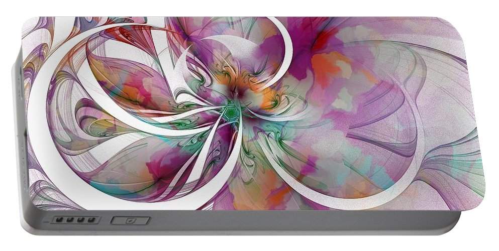 Digital Art Portable Battery Charger featuring the digital art Tendrils 01 by Amanda Moore