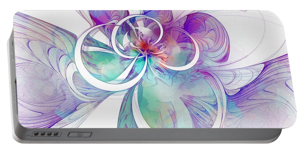 Digital Art Portable Battery Charger featuring the digital art Tendrils 10 by Amanda Moore