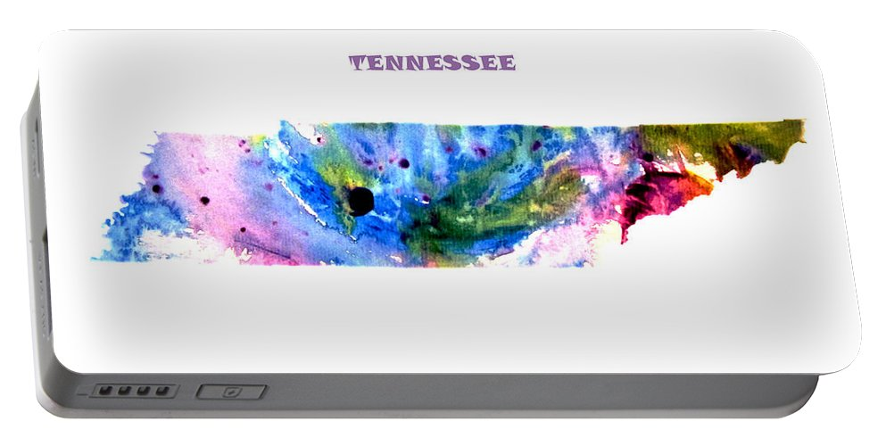 Tennessee Portable Battery Charger featuring the digital art Tennessee by Brian Reaves