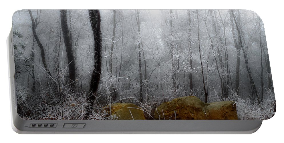 Landscape Frost Portable Battery Charger featuring the photograph Tennessee Mountain Frost by Michael Eingle