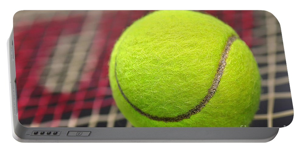 Photography Portable Battery Charger featuring the photograph Tennis Anyone... by Kaye Menner