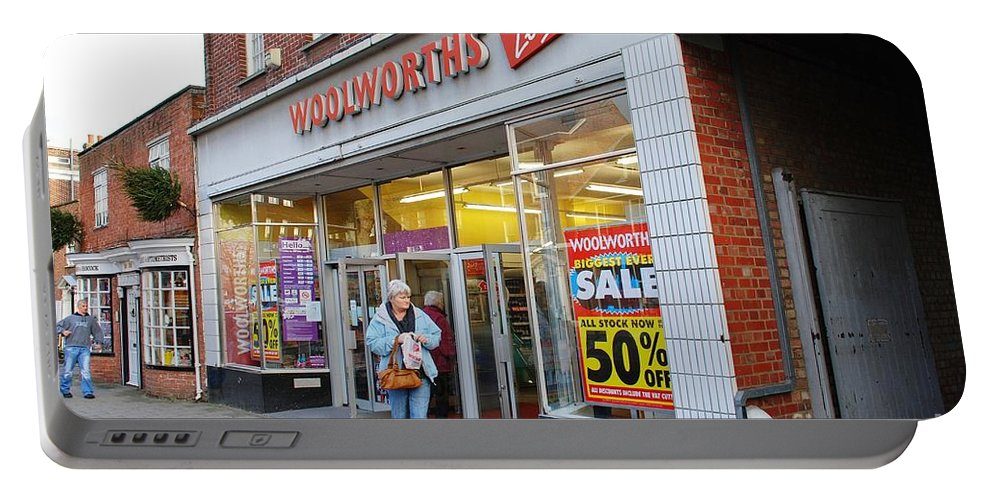 Local Portable Battery Charger featuring the photograph Tenterden Woolworths Store by David Fowler