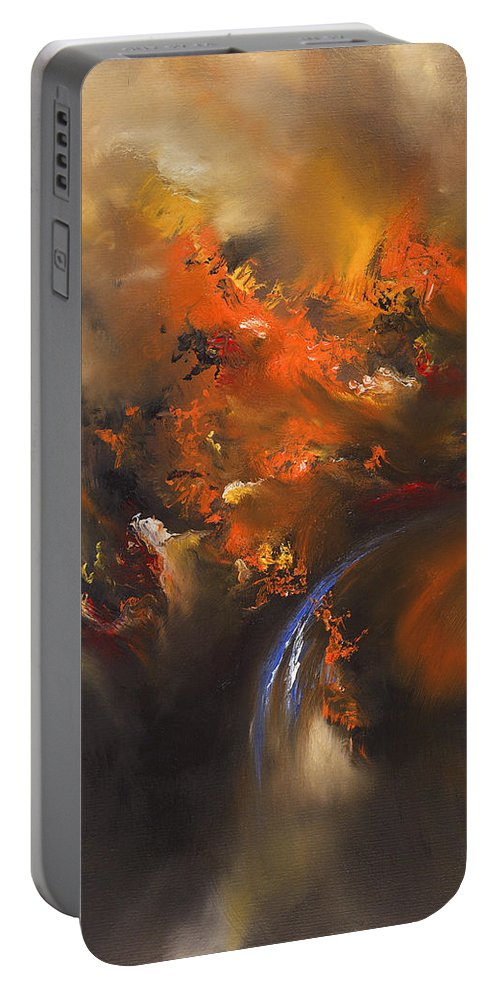 Oil Portable Battery Charger featuring the painting Terminus by Christopher Lyter
